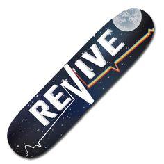 For Shawn -Space Lifeline - Deck - Revive Skateboards Roller Derby Skates, Converse, Vans, Skate Art, Cool Skateboards, Skateboard Girl, Longboarding, My Buddy, Cat Life