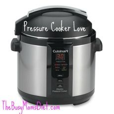 Pressure Cooker Love - review of the Cuisinart Pressure cooker with video recipe - though, I do not recommend obstructing the pressure/exhaust valve in any way as illustrated in the video.