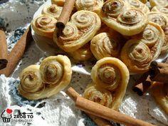Zrób to smacznie : CYNAMONOWE PALMIERY CZYLI CIASTKA Z CIASTA FRANCUS... Food, Essen, Meals, Yemek, Eten