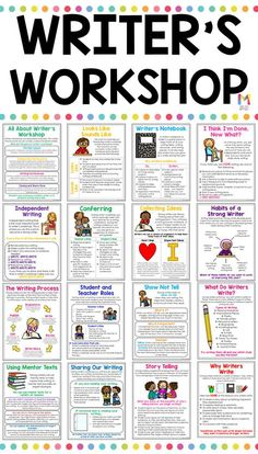 Best 12 These writers workshop anchor charts are a huge timesaver for teachers and a great reference page for students interactive writing journals! A must have for any teacher who is getting ready to launch writer's workshop in their classroom. English Writing Skills, Book Writing Tips, Writing Strategies, Writing Lessons, Writing Journals, Writing Process, Writing Rubrics, Poetry Lessons, Writing Prompts For Kids