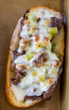 Oven Baked Philly Cheesesteak Sandwiches