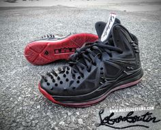 "Nike LeBron X ""Lebronboutin"" by Mache Custom Kicks"
