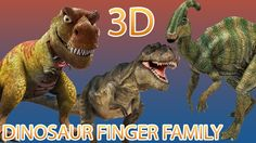 Dinosaur Finger Family Nursery english 3d  rhymes    Children Animated f...