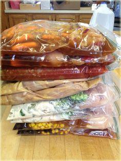 5 Crock-Pot Freezer Meals - Easy Crock Pot Recipes - Mommy's Fabulous Finds :   More gotta do's!