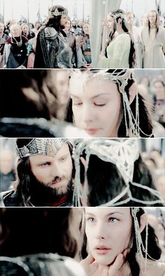So here's a rant, nothing makes me angrier than when people ship Aragorn and Eowyn. Did you see Aragorn's face when Elrond told him that Arwen was dying? And the tears in his eyes when he finally saw her, when he knew that they'd be alright and that they finally had a future, after waiting so long? yeah. they're in love.