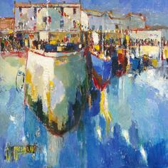 Seahouses signed limited edition print by Anthony Marshall