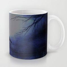 Whit this beautiful moon Mug by Oscar Tello Muñoz - $15.00
