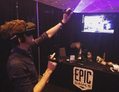 An awesome Virtual Reality pic! Taking a shot at the Bullet Train @vrlosangeles !Loving the feel of the Oculus CV1 and Oculus Touch Controllers  @unrealengine @oculus  #VR #tech #technology #edgeofideas #innovation #virtualreality #LA by edgeofideas check us out: http://bit.ly/1KyLetq