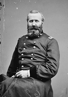 Alexander Hays was a Union Brigadier General and West Point Graduate who died during the Battle in the Wilderness.  At Gettysburg, he commanded the 2nd Corp, 3rd Division.  After Pickett's charge he dragged a Confederate battle flag behind his horse.