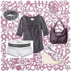 Another grey and white outfit., created by sapple324 on Polyvore
