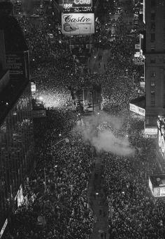 New Year's Eve, New York City, 1977.