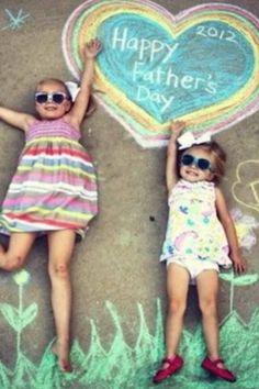 #DIY #Stoepkrijt Nog een stoepkrijt idee voor Vaderdag, wees creatief!