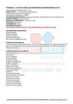 Fazenda 1.128 hectares, Marianópolis-TO - Silvano Reis Imóveis by SILVANO REIS