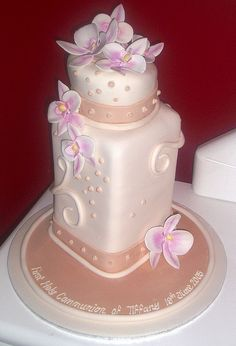 Holy Communion Cake by Sweet Cake O'Mine, via Flickr