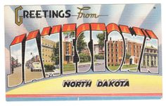 Jamestown North Dakota Vintage Postcard by PicturesFromThePast, $4.95