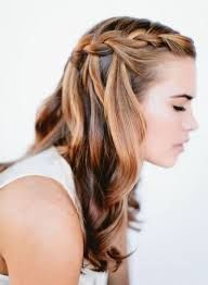 Resultado De Imagen Para Peinados Sencillos Y Bonitos Para Fiesta De 15 Sencilla Wedding Hairstyles For Long Hair Hair Styles Waterfall Braid Hairstyle