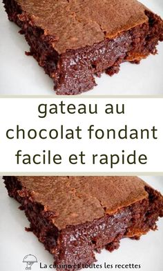 Chocolate Brownie Cookies, Chocolate Fondant, Summer Dessert Recipes, Easy Desserts, Torte Nutella, Bakewell Cake, Bread And Butter Pudding, French Desserts, Fondant Cakes