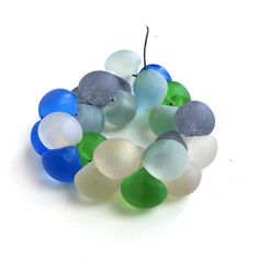 Mushroom Beads Czech Glass Sea Glass Pacific by msbijouxbeads