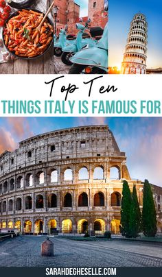 10 Things Italy is Known For | Italy is known for many things. That's why I made a list with 10 things Italy is famous for that you need to experience when traveling to Italy. | Italy | Italy is known for | Things you must know about Italy | Italy must know |Italy travel must know| Italy things to know | did you know Italy | #italy #travelitaly