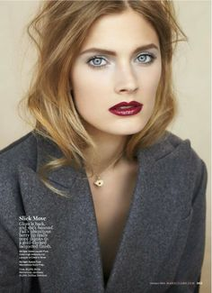 Pretty holiday makeup via Marie Claire, October 2013