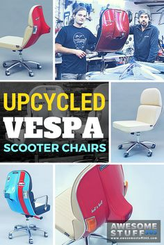 Make your home office POP! These Vespa Scooter chairs are designed for sleek…