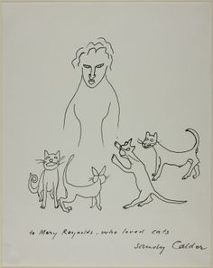 Alexander Calder American, 1898-1976 - To Mary Reynolds Who Loved Cats, 1955 (Pen and black ink on white wove paper) © 2014 Calder Foundation, New York / Artists Rights Society (ARS), New York