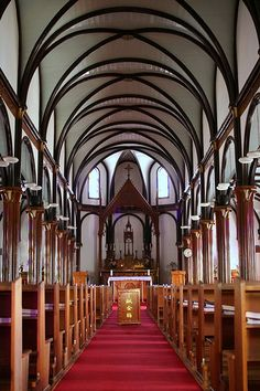 Kurosaki Church, Nagasaki, Japan Wow, it reminds me of gothic architecture, but it's Japanese. Japan Architecture, Religious Architecture, Gothic Architecture, Historical Architecture, Interior Architecture, Church Interior, Interior And Exterior, Nagasaki, Church Pictures