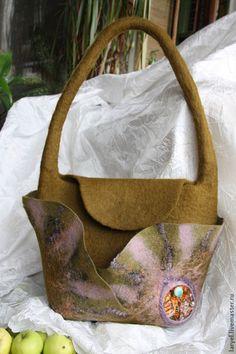 """Женские сумки ручной работы. Ярмарка Мастеров - ручная работа. Купить Сумка """"Осеннее солнце"""". Handmade. Абстрактный, стильная сумка"""