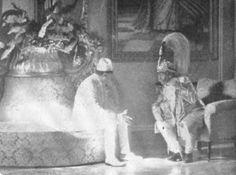 Vintage Nepal ~ Rare Old Pictures, Videos and Arts of Nepal    The meeting between King Tribhuvan (Left) and the then Prime Minister and de facto ruler of Nepal, Mohan Shamsher at the Narayanhiti royal place in Kathmandu .