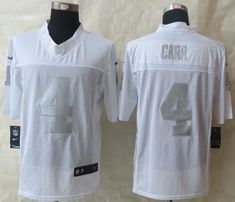 oakland raiders 4 derek carr white silver 2014 new nike elite jerseys oakland raiders pinterest dere