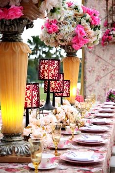 White pearl decoration wedding reception table setting ideas ciputra golf club hotel surabaya junglespirit Images