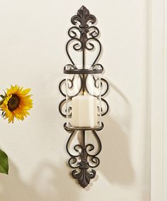 Filigree Metal Candle Wall Sconce