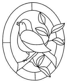 stained glass coloring pages Glass Painting Patterns, Stained Glass Patterns Free, Glass Painting Designs, Stained Glass Quilt, Stained Glass Birds, Stained Glass Designs, Stained Glass Projects, Mosaic Patterns, Embroidery Patterns