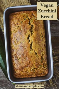 The BEST Vegan Zucchini Bread recipe! Cinnamon and nutmeg are combined with healthy grated zucchini to make this incredible bread. It's oil-free, fluffy, moist, and absolutely delicious. Perfect for breakfast, dessert, or a healthy snack. #veganrecipes #healthy #easy Easy Zucchini Bread, Vegan Zucchini, Zuchinni Bread, Quick Bread, Vegan Foods, Vegan Snacks, Vegan Dishes, Vegan Breakfast Recipes, Delicious Vegan Recipes