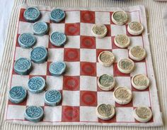 Image result for ceramic checkers pieces