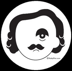 Natty Poe: Edgar Allan Poe meets Natty Boh. Saw this on a car in a Baltimore parking lot the other day and immediately ordered one.