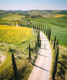 Neverending road ~ Asciano, Tuscany, Italy Phot