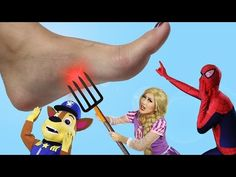 Minnie Mouse CASTLE PLAYHOUSE on FIRE! w/ Pink Spidergirl & Paw Patrol Marshall in Real Life - YouTube
