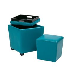 Spruce up your home or office with this two in one ottoman. Available in a variety of colors, this ottoman is sure to complement your decor.