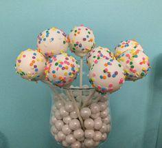 Rainbow Confetti Sprinkles Cake Pops