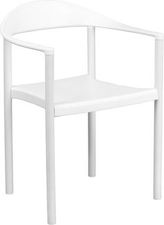 1000 lb. Capacity Plastic Cafe Stack Chair - Multipurpose Stack Chair - 1000 lb. Weight Capacity - Stacks up to 5 Chairs High - Black Plastic Seat and Back - Ergonomically Contoured Design - Injection