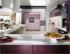 Modern Tone For Kitchen Design Ideas Futuristic Violet French With Unique Plan