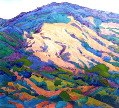 robin purcell california watercolors in the plein air tradition: After the Fire Series, Mount Diablo Watercolor Landscape, Abstract Landscape, Landscape Paintings, Watercolor Paintings, Watercolours, Landscapes, Impressionist Landscape, Erin Hanson, Modern Impressionism