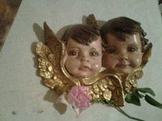 pareja de angeles de la guarda hechos artesanalmente.Pedidos en volandocometas68@gmail.com  o instagram