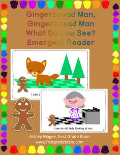 Gingerbread Man What Do You See Emergent Reader product from FirstGradeBrain on TeachersNotebook.com