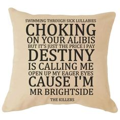 John Lennon Imagine Lyrics Cushion Cover Great For your Sofa Perfect Gift For Him / Her