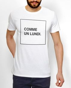 T-shirt Homme Comme Un Lundi Blanc by Bunk