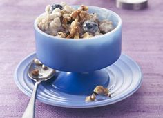 blueberry barley pudding - a improvisation of a traditional rice pudding