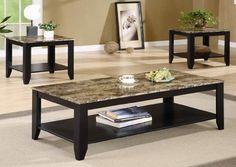 Granite coffee table set