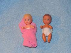 2 Barbie Sister Tiny BABY KRISSY DOLLS 1973 #DollswithClothingAccessories